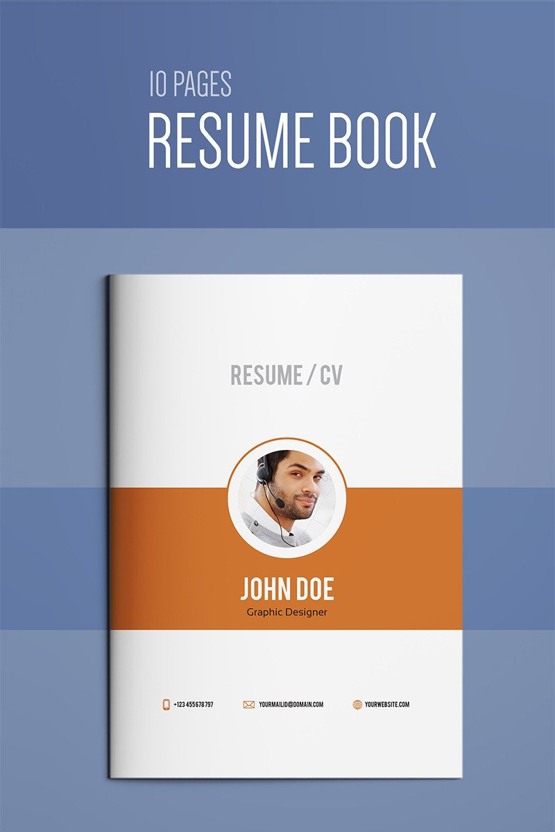 Resume Booklet | Modern / CV | Professional And Creative InDesign Resume  Template #67141 Resume Templates