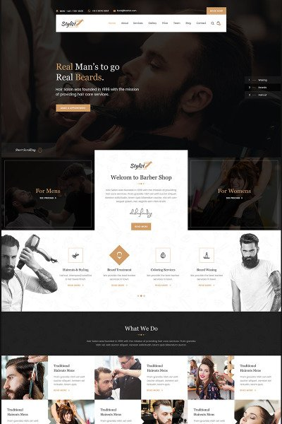 Stylist - Hair Salon Bootstrap Html Template Web №67190 #67190