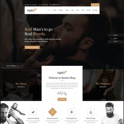 54 Best Salon Website Templates