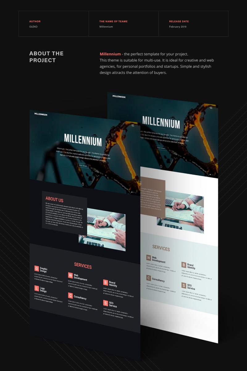 "Tema Siti Web Responsive #67173 ""Millennium - Creative Minimalistic HTML5"""