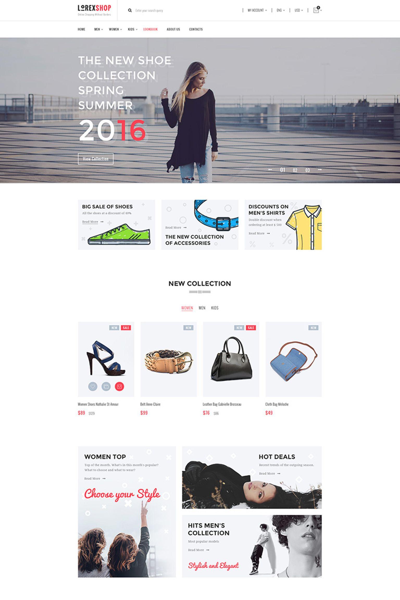 "Tema WooCommerce #67146 ""LOREX Fashion"""