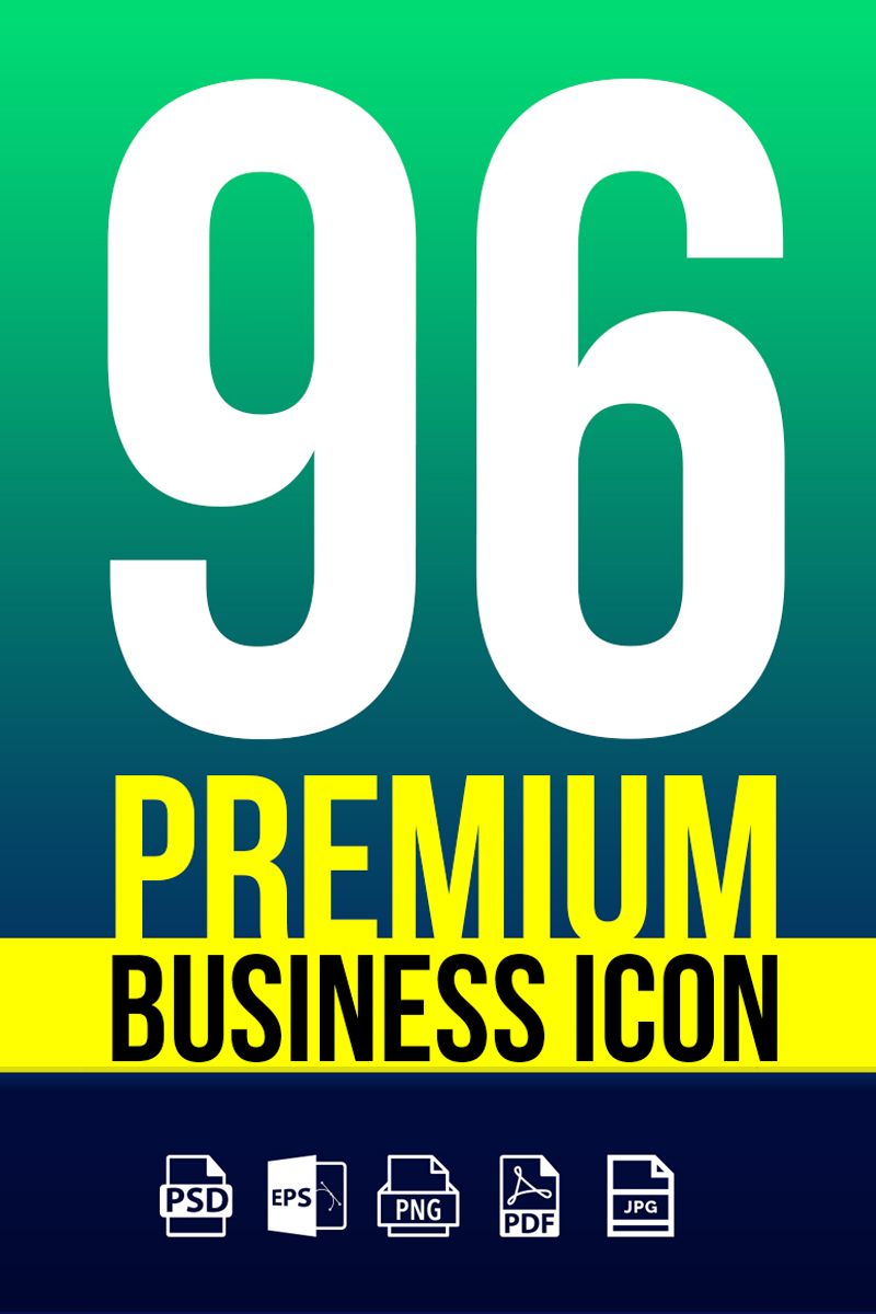 """Template Pacchetto Icone #67120 """"Business Icons Pack 