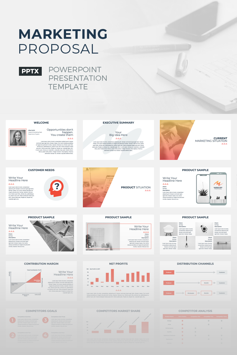 "Template PowerPoint #67156 ""Marketing Proposal"""