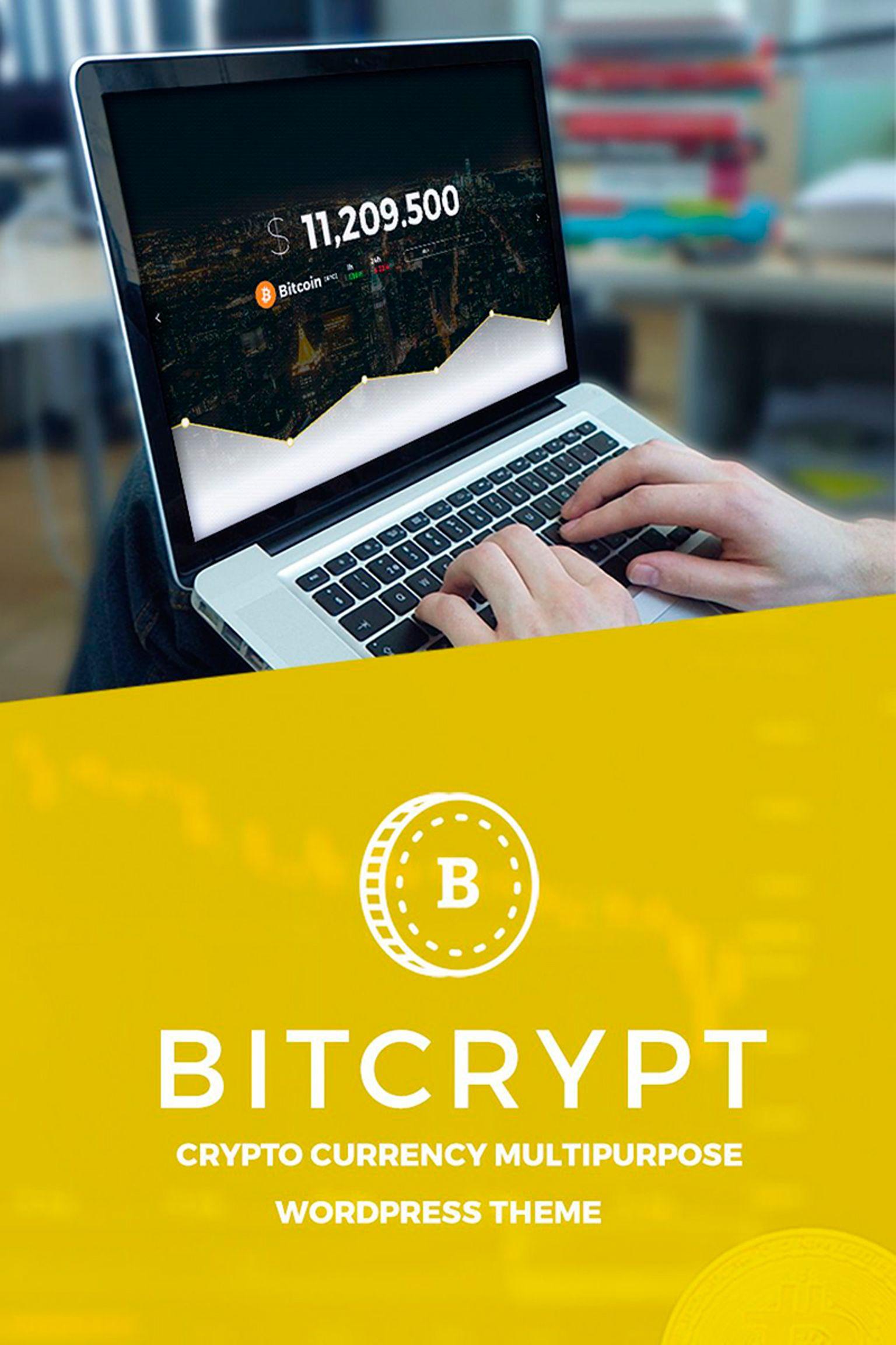 "WordPress Theme namens ""Bitcrypt - Bitcoin & Cryptocurrency"" #67180"