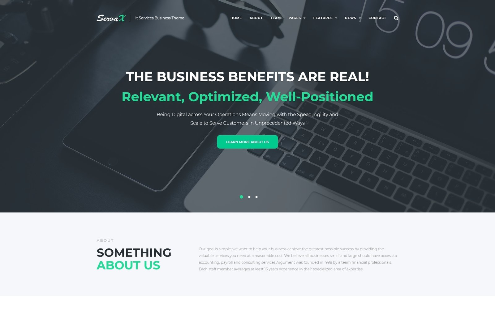 "WordPress Theme namens ""ServaX - IT Services Business"" #67184"