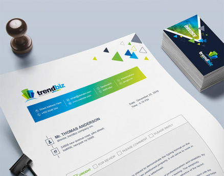 Fax Paper Cover Sheet Corporate Identity