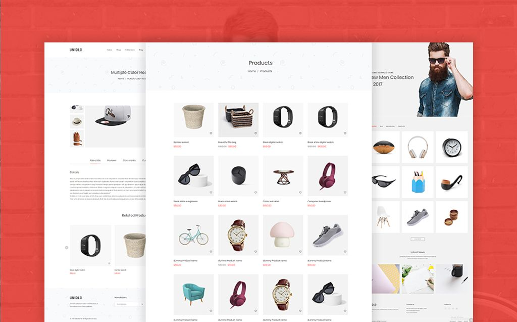 Website Design Template 67247 - digital electronics fashion flowers furniture html5 interior minimal shopify theme responsive shopping technology