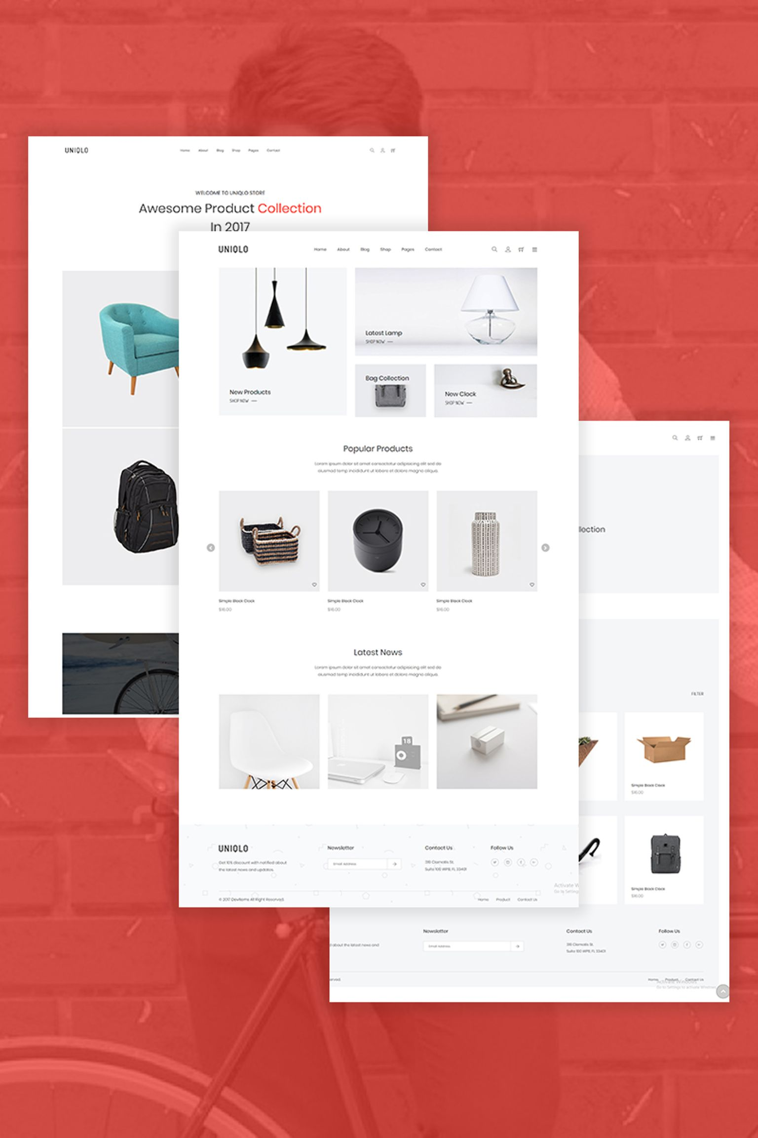 Website Design Template 67247 - clothes cookery digital electronics fashion flowers furniture html5 interior minimal shopify theme responsive shopping technology