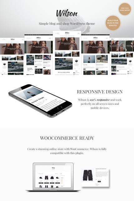 Website Design Template 67248 - blog theme elegant modern personal shop widgets customizer simple