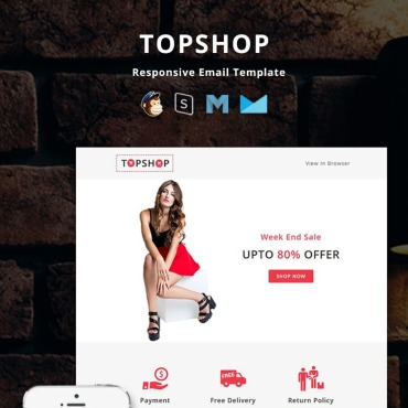 Preview image of TopShop - Responsive Email
