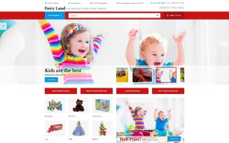 Faury Land - Kids Toys & Clothes OpenCart Template