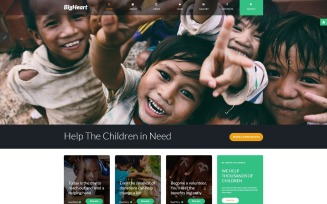 BigHeart - Charity Sticky Menu Light Joomla Template