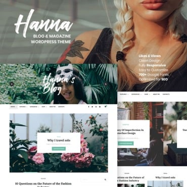 Preview image of Hanna - A Beautiful Blog & Magazine