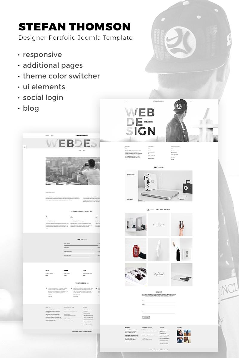 Website Design Template 67286 - web designer cv blog portfolio photographer project business service video videographer studio agency