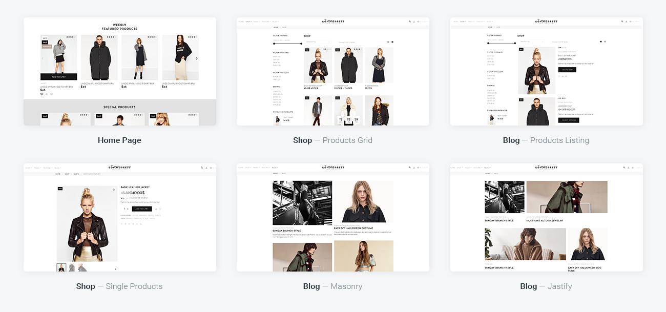 Website Design Template 67288 - gallery shopping premium promotion responsive testimonials creative design