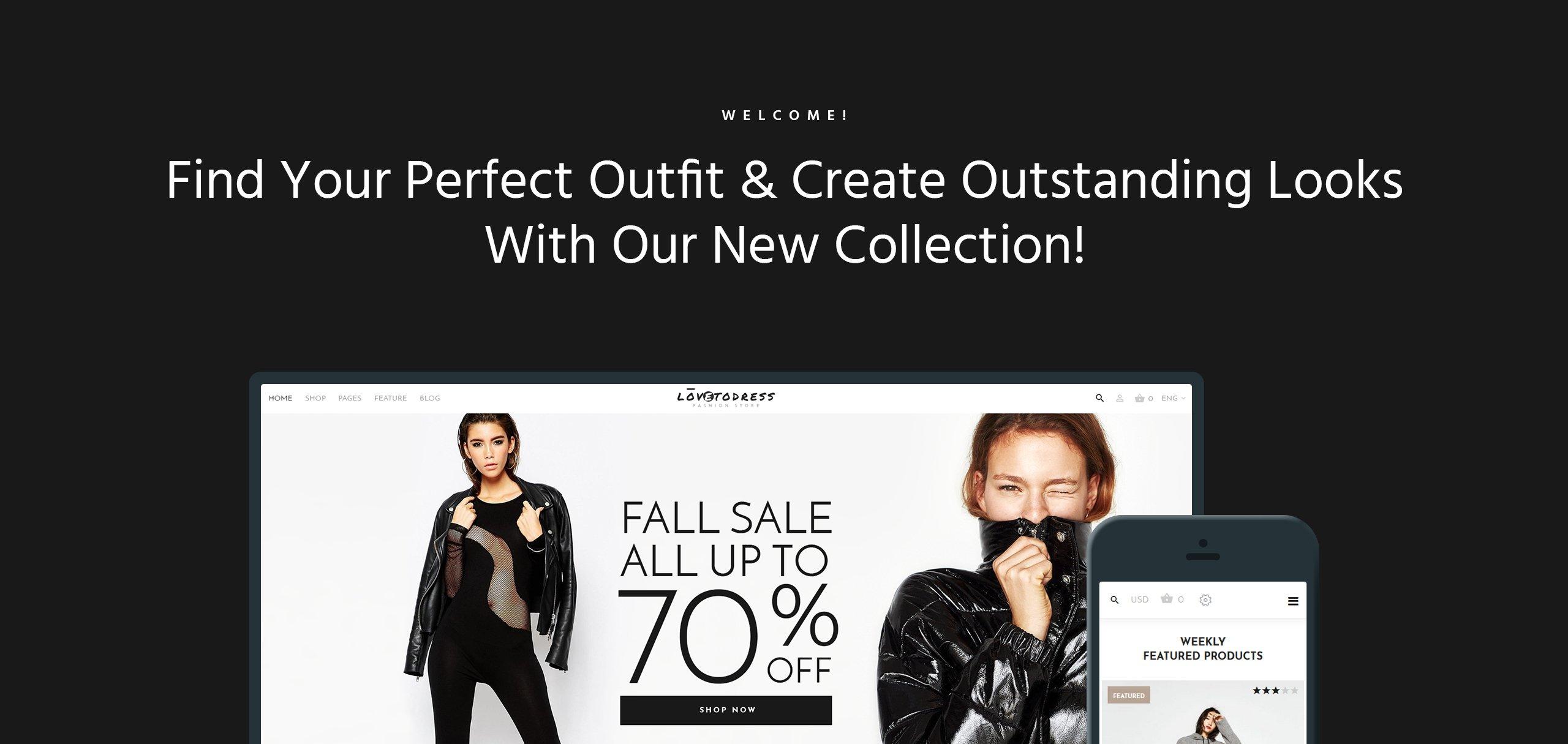 Website Design Template 67288 - stylish portfolio post gallery shopping premium promotion responsive testimonials creative design
