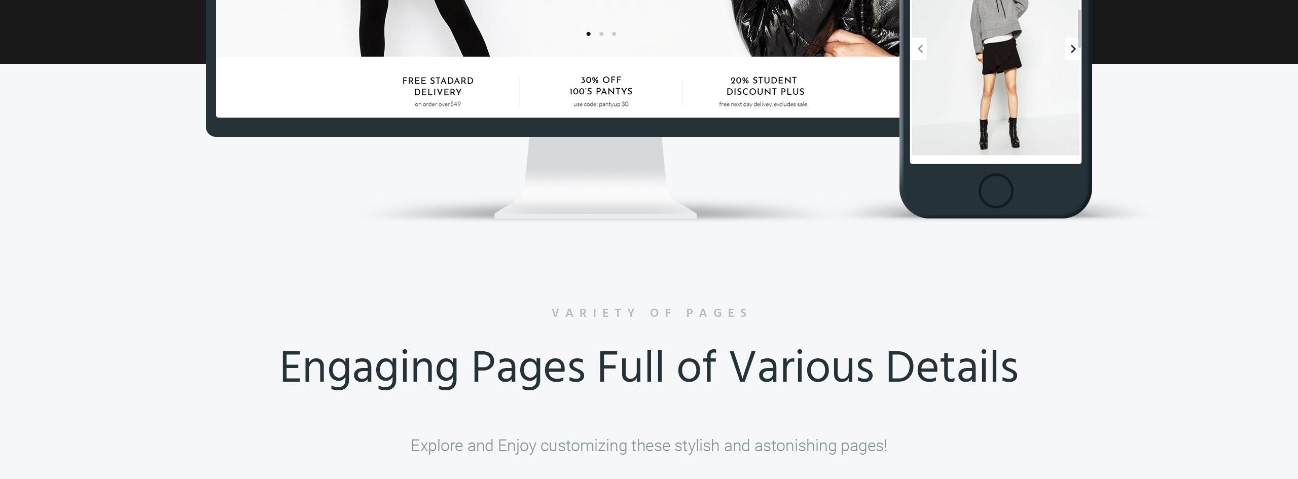 Website Design Template 67288 - portfolio post gallery shopping premium promotion responsive testimonials creative design