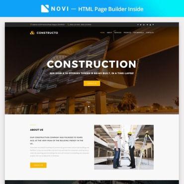 Preview image of Constructo - Construction Company with Novi Builder