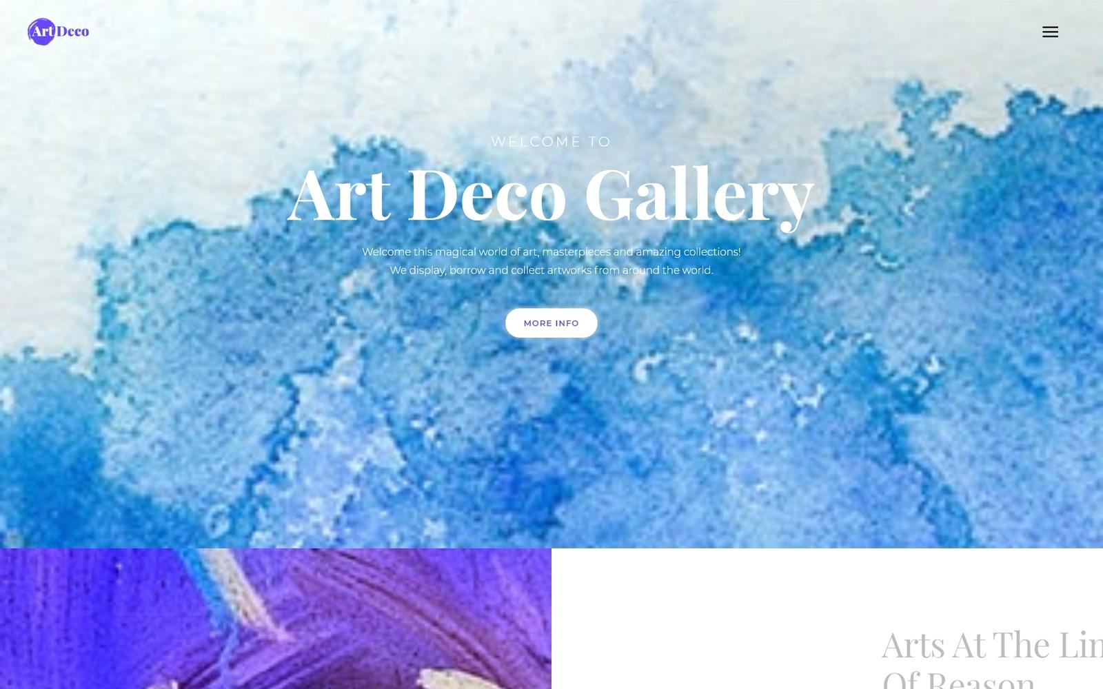 Art Deco - Gallery Art Gallery WordPress sablon 67290