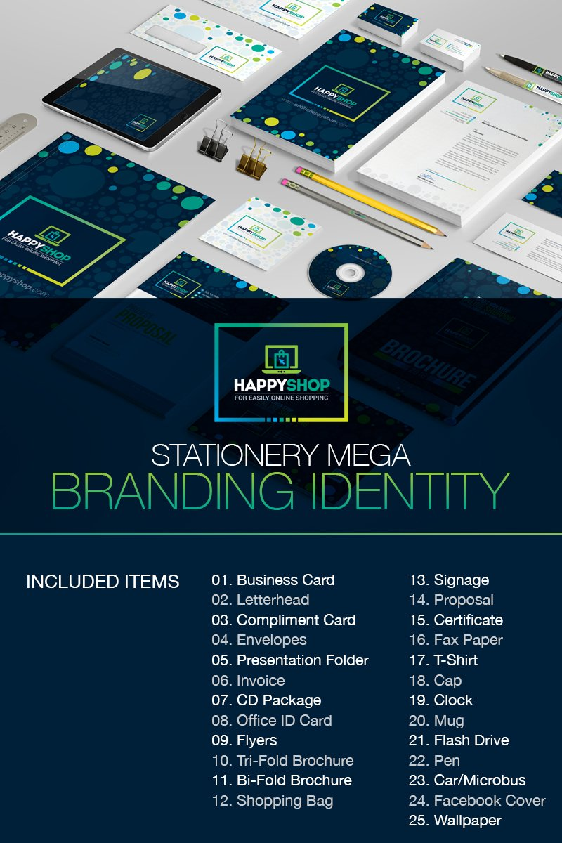 """Business Mega Branding Bundle for E-Commerce or Online Shop"" 企业设计模板 #67284"