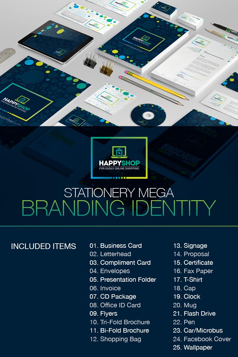 Business Mega Branding Bundle for E-Commerce or Online Shop Template de Identidade Corporativa №67284