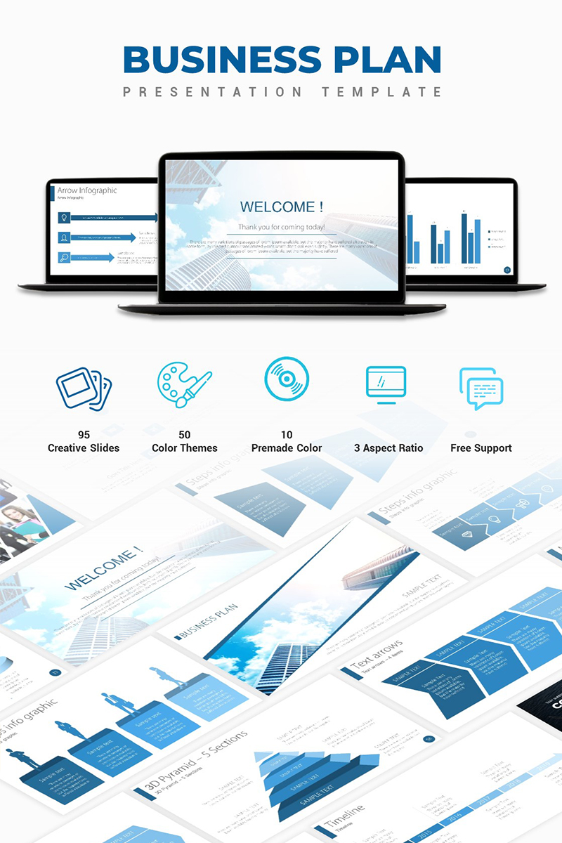 """Business Plan"" PowerPoint Template №67200"