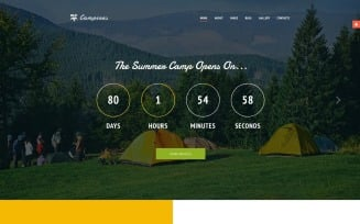 Campines - Kids & Teenagers Bright Summer Camp Joomla Template