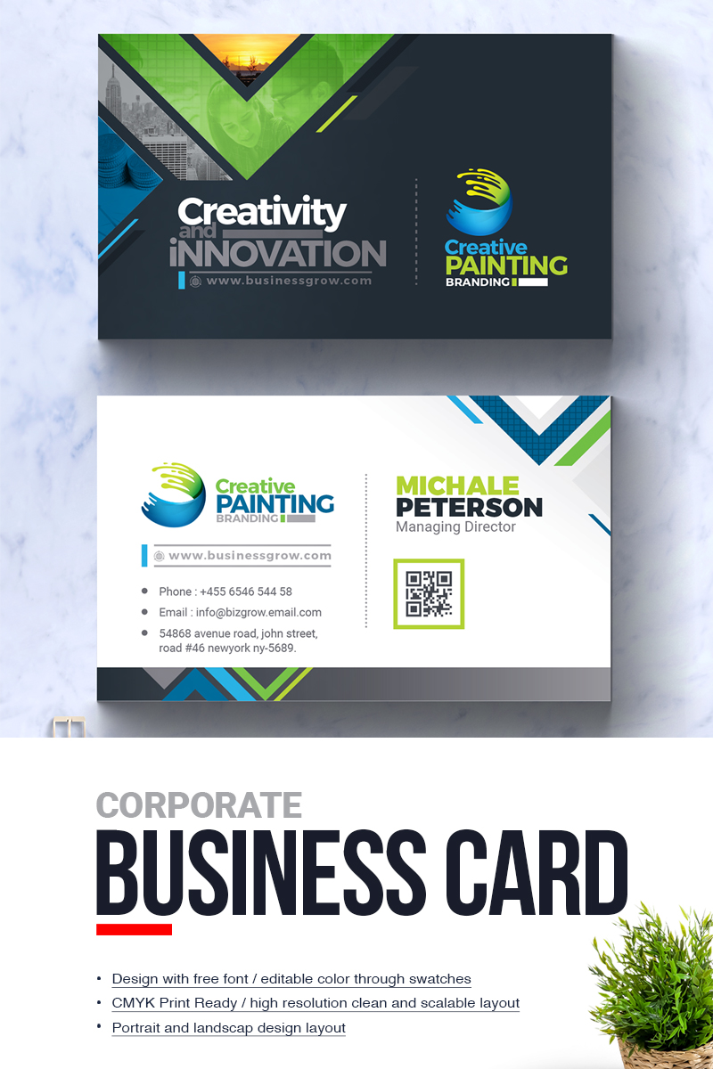 Creative painting business card corporate identity template 67202 colourmoves