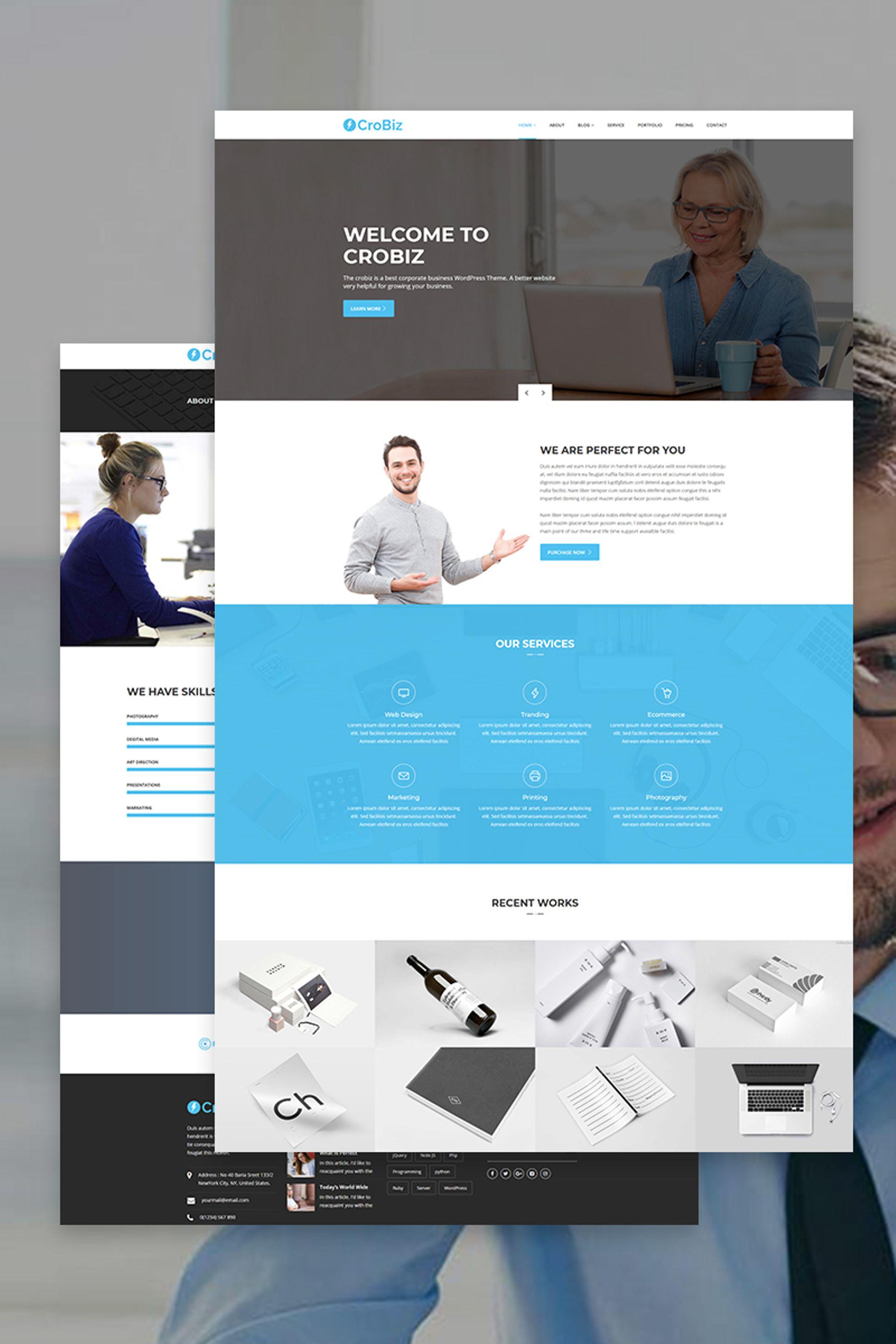 Crobiz - Corporate WordPress Theme - screenshot
