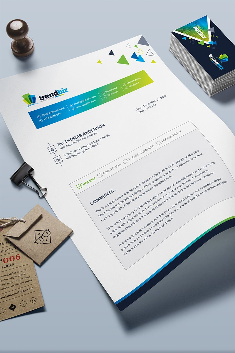 Fax Paper Cover Sheet Corporate Identity Template