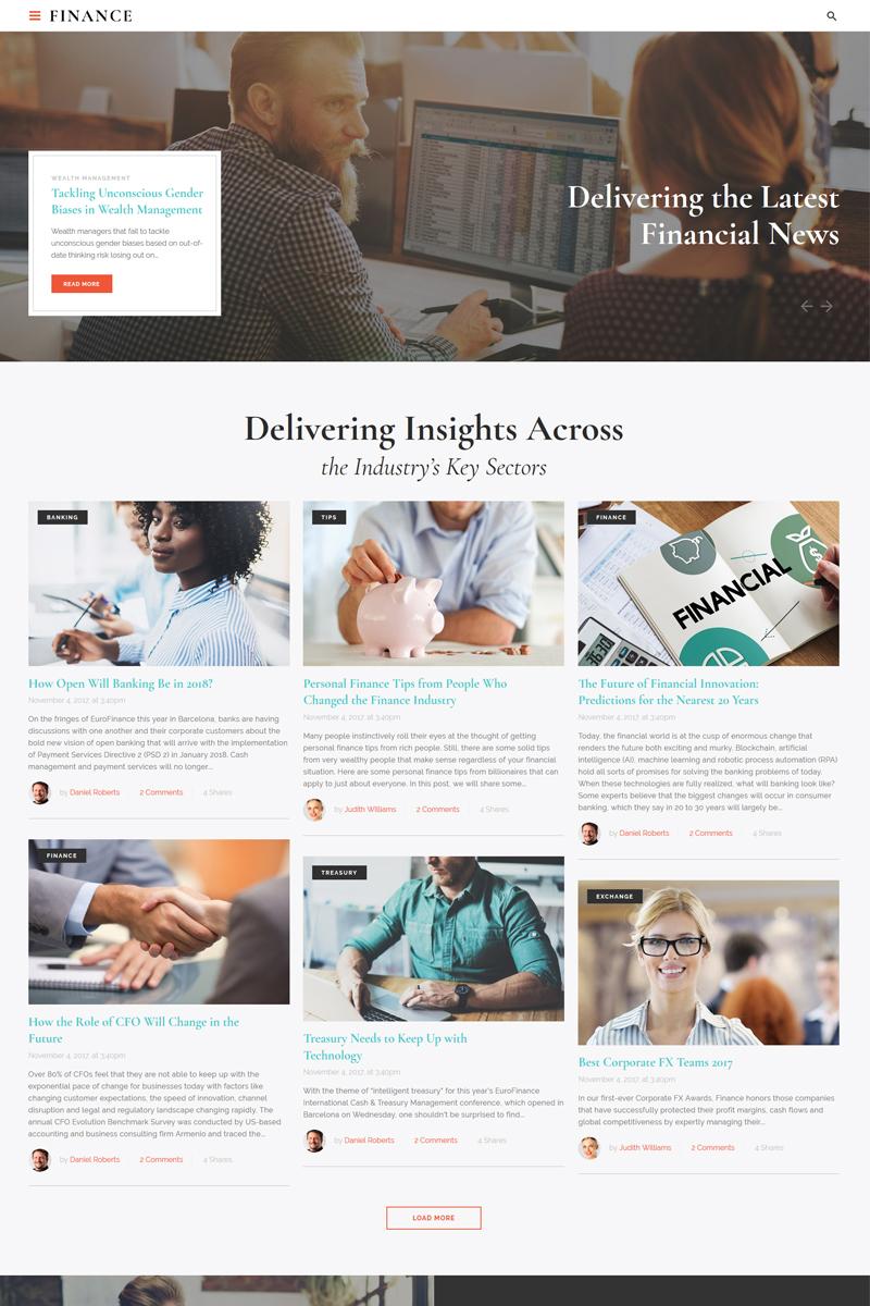 Finance - Financial Adviser Agency Multipage HTML Template Web №67293 - captura de tela