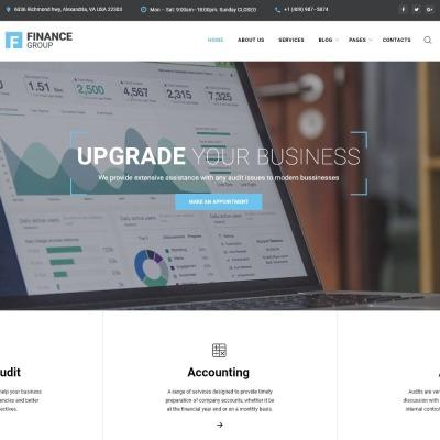 Flexível template Web №67262 para Sites de Consultoria