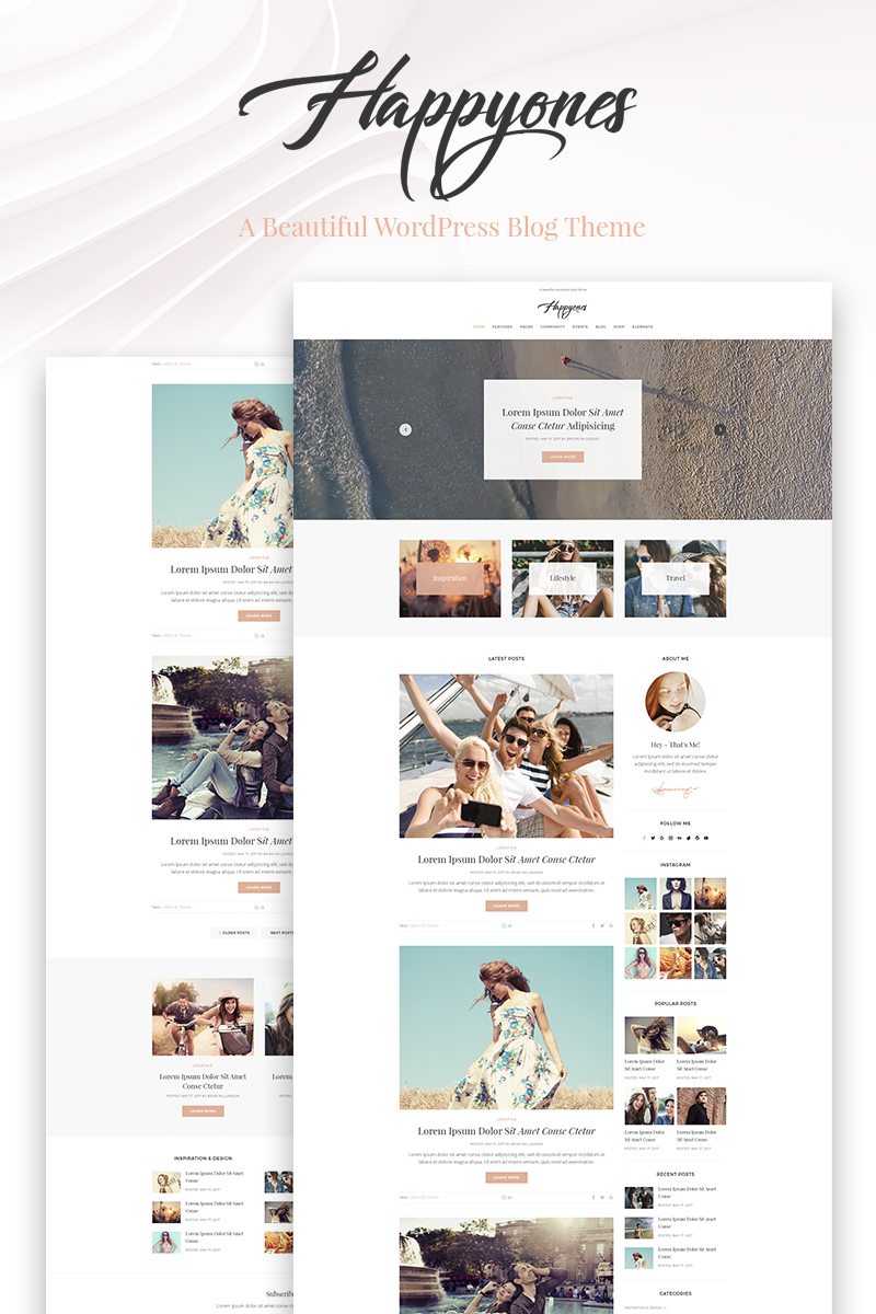 Happyones - Blog WordPress Theme - screenshot