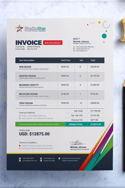 Invoice  Bill  Cash Memo Template Ms Word Eps And Psd Invoice