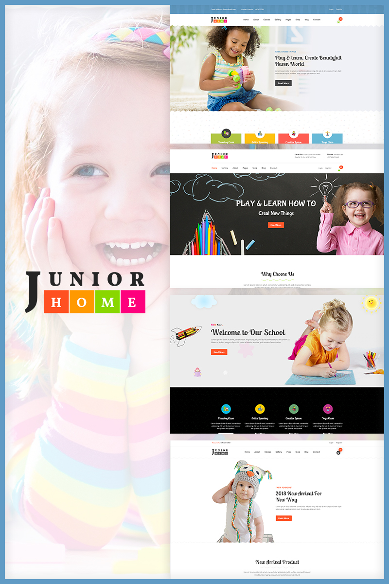 JuniorHome - Day Care and Kindergarten Website Template