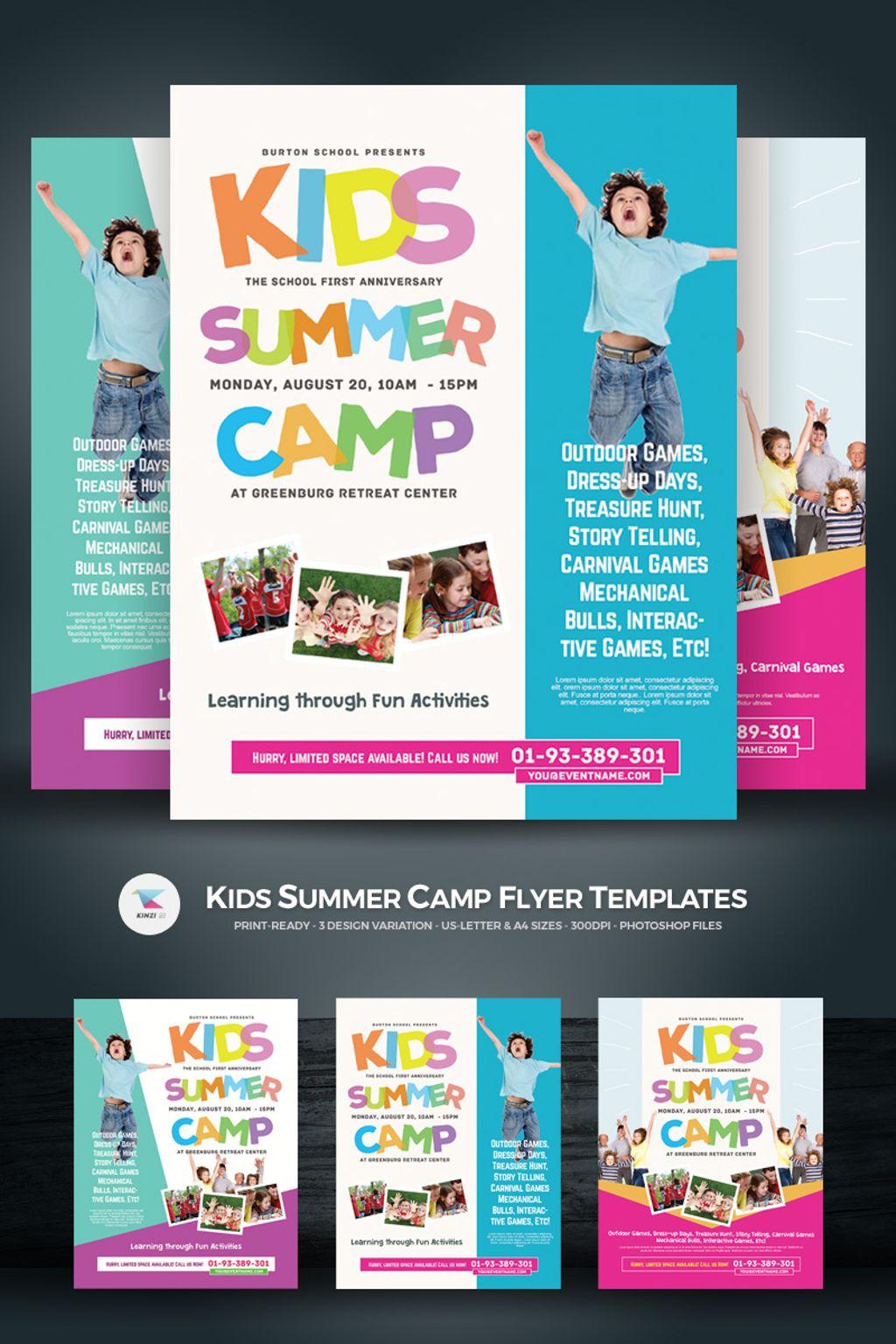 Kids Summer Camp Flyers PSD Template