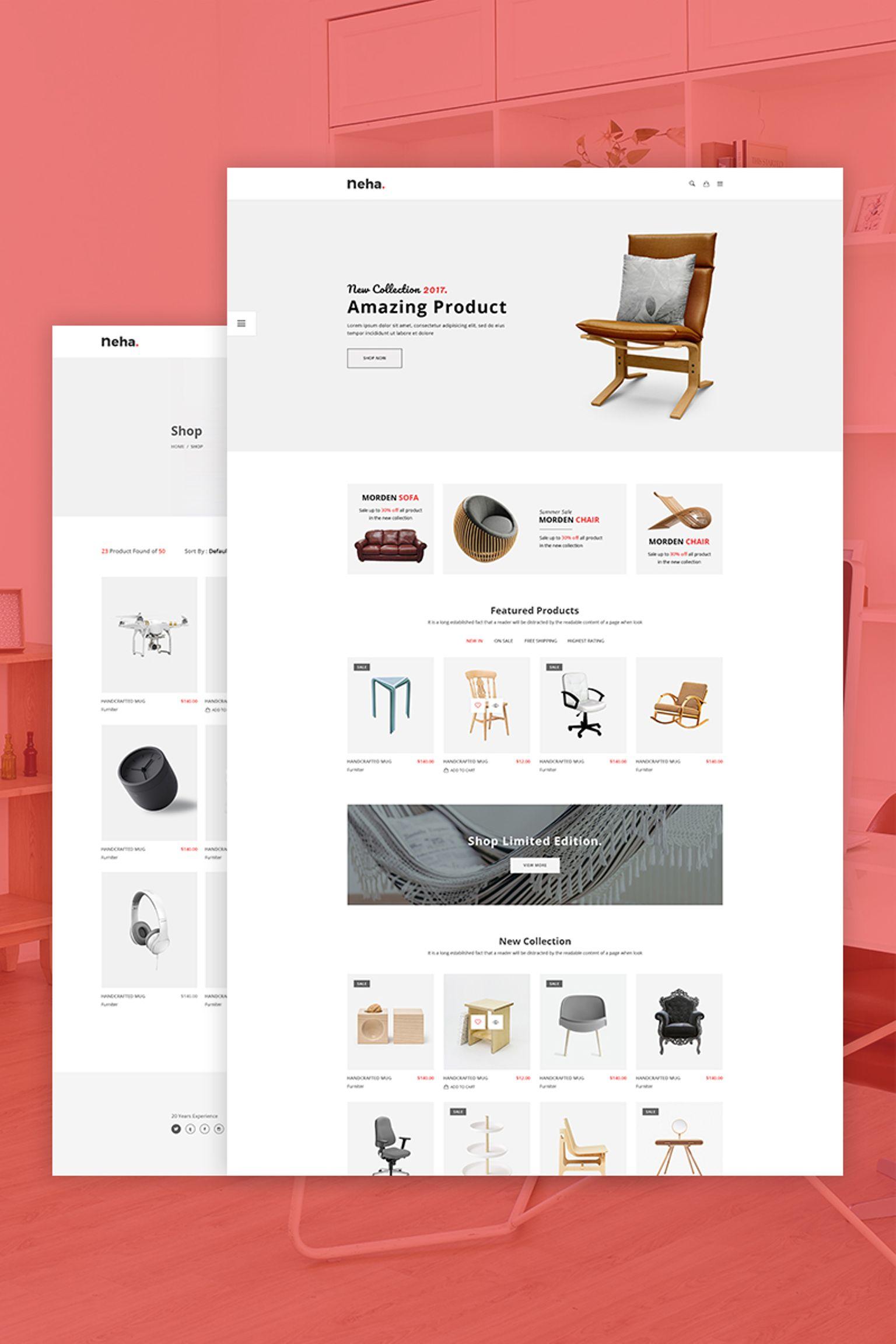 "Modello Siti Web Responsive #67271 ""Neha - Multipurpose eCommerce"""