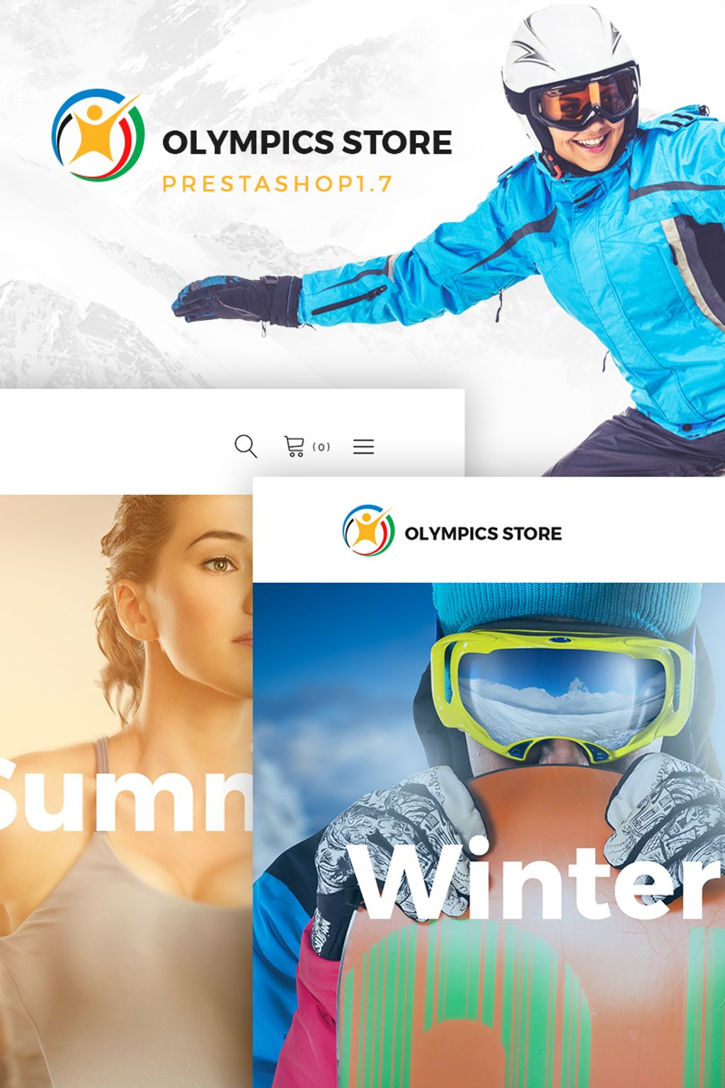 Olympics Store - Professional Sports PrestaShop Theme - screenshot