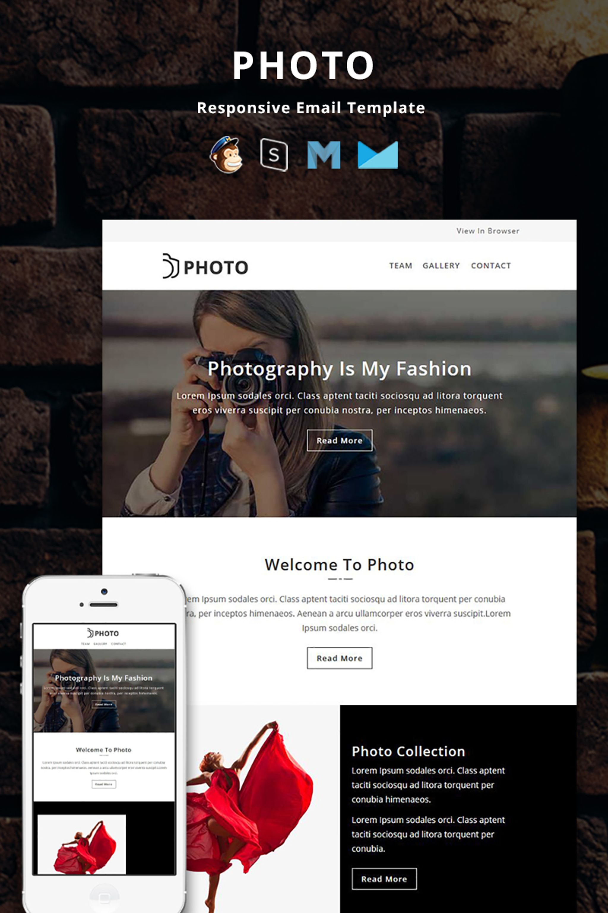 Photo - Responsive Email Newsletter Template