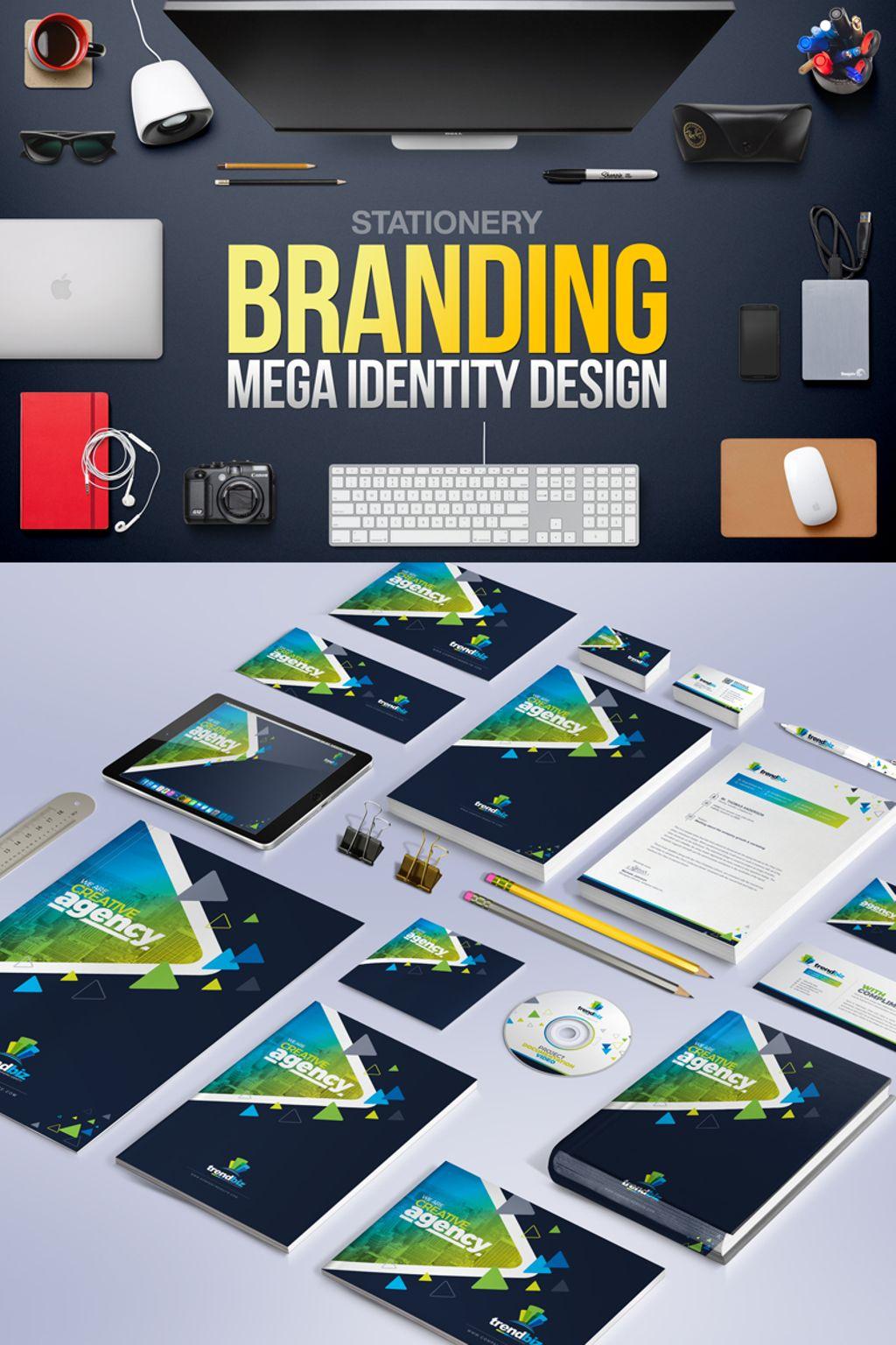 """Plantilla De Identidad Corporativa """"Stationery Branding Mega Identity Design"""" #67294"""