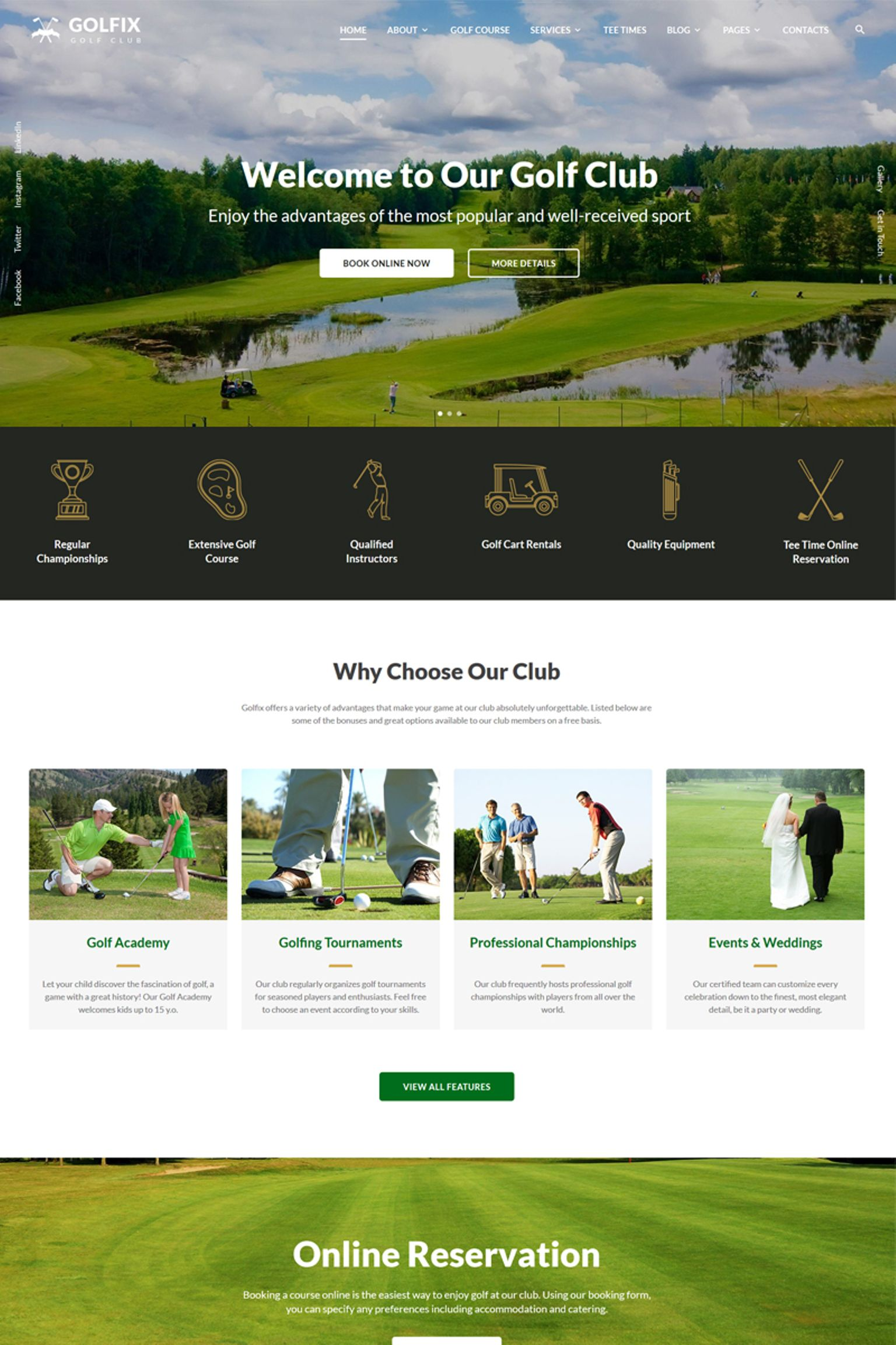 "Plantilla Web ""Golfix - Golf Club Multipage HTML"" #67291"