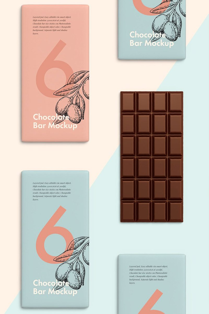 Prémium Chocolate Bar Product Mockup 67243