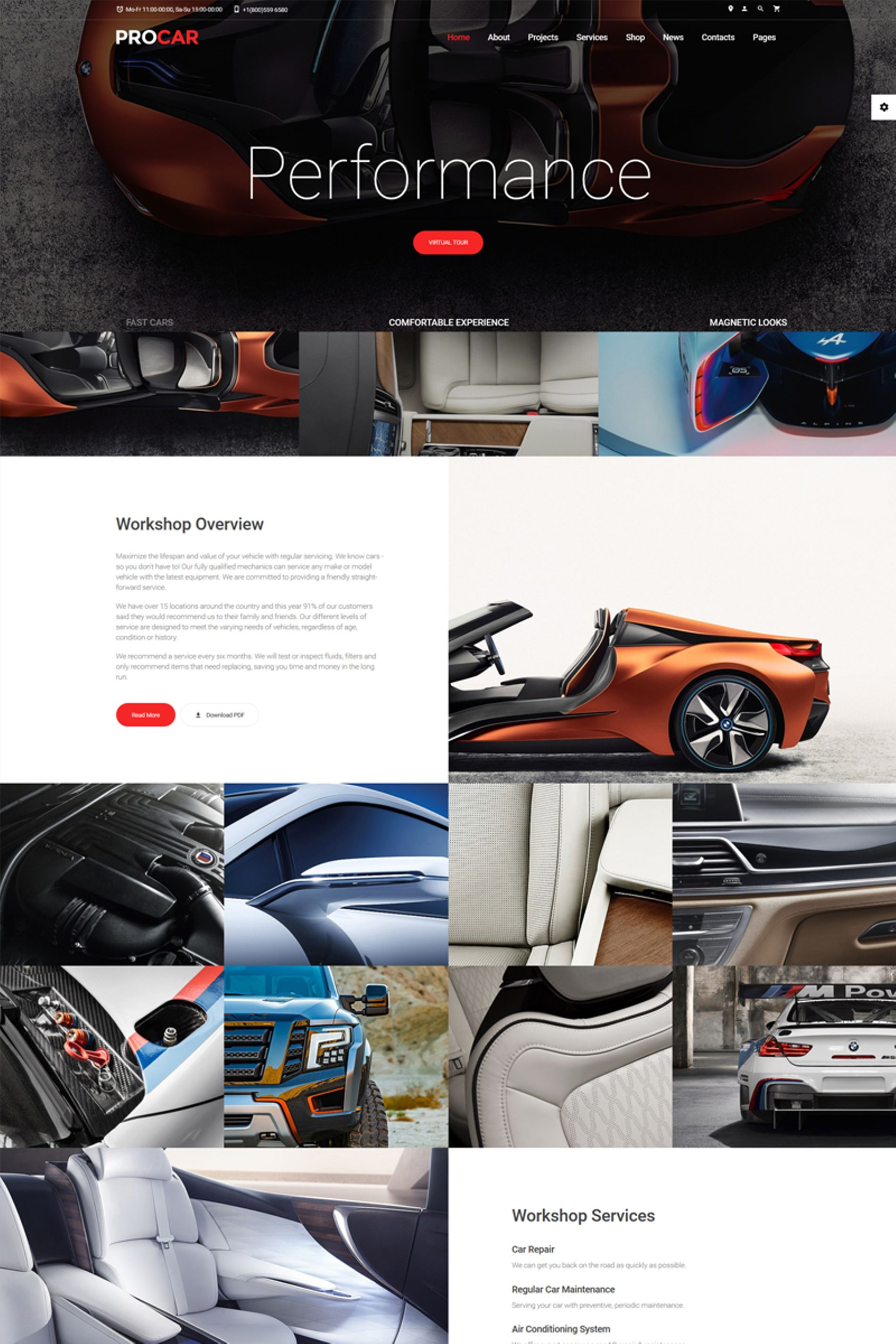 """ProCar - Car Parts Multipage HTML"" modèle web adaptatif #67239"