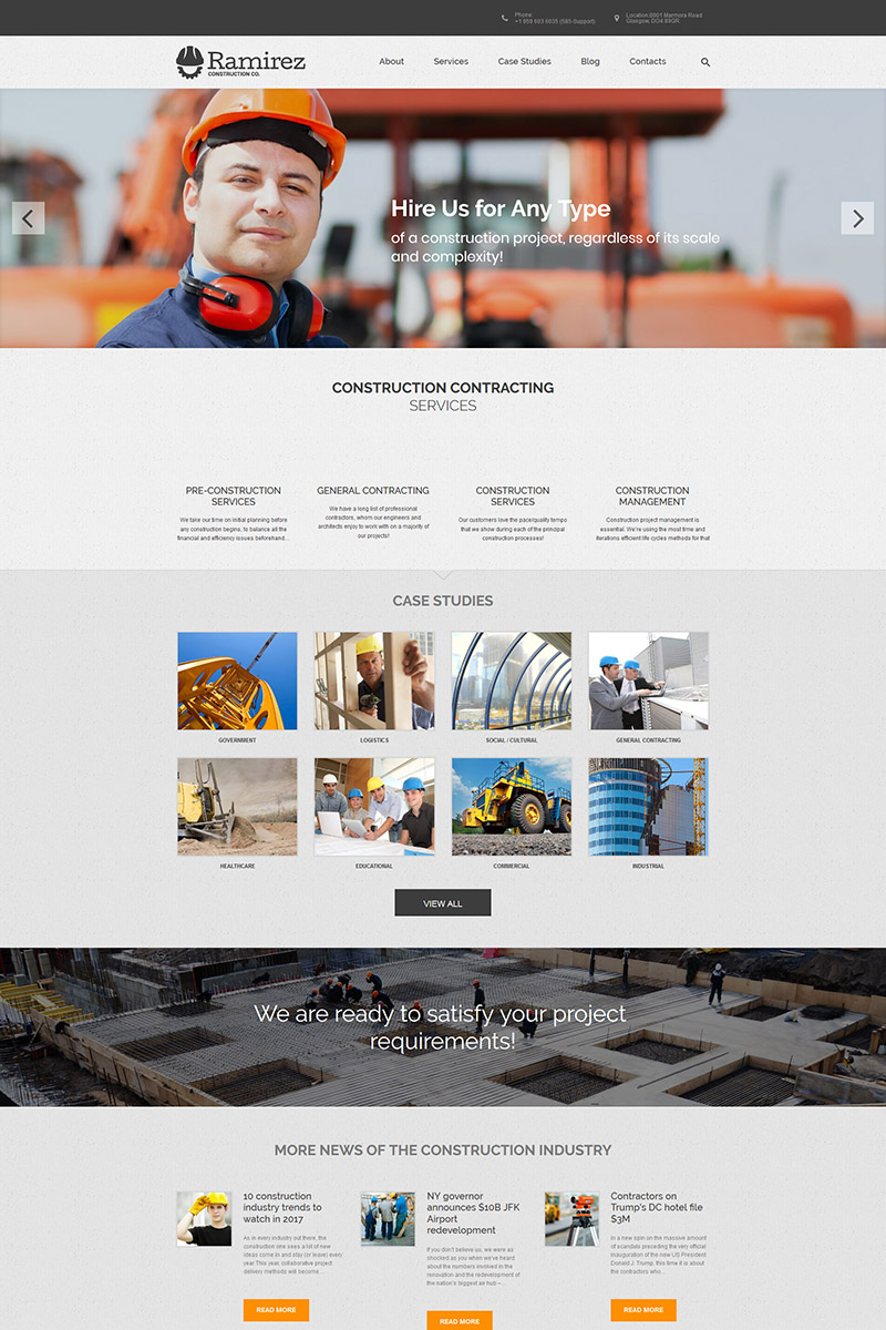 """Ramirez - Architecture & Construction Company"" thème WordPress adaptatif #67225"
