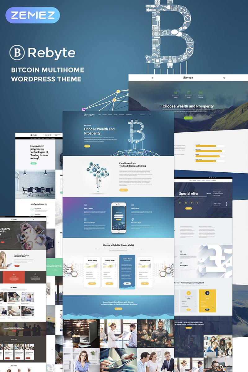 Rebyte Bitcoin Templates WordPress sablon 67289 - képernyőkép