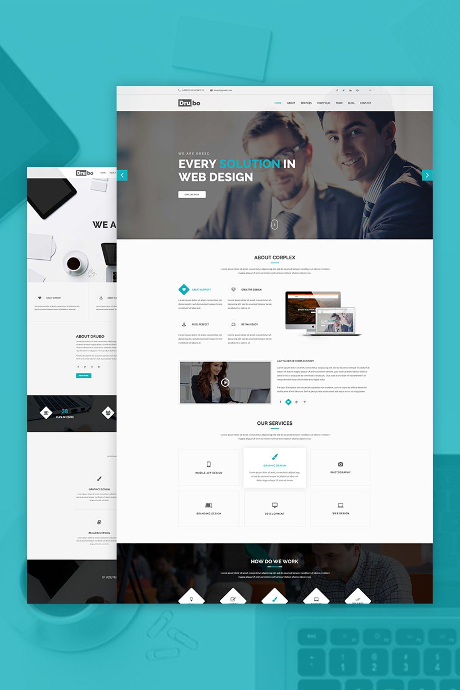 Responsywny motyw WordPress Drubo - Corporate #67246