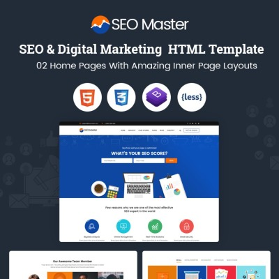 SEO Master – SEO & Digital Marketing Agency Website Template #67270