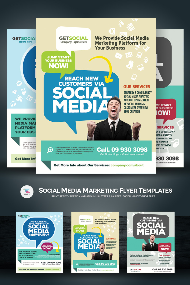 Social Media Marketing Flyers PSD-sjabloon