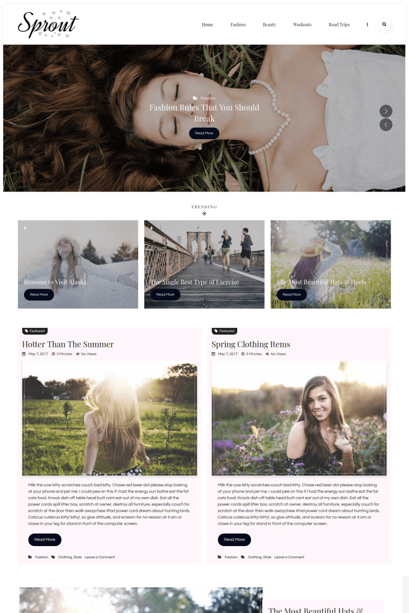 Sprout - Personal Blog WordPress Theme - screenshot