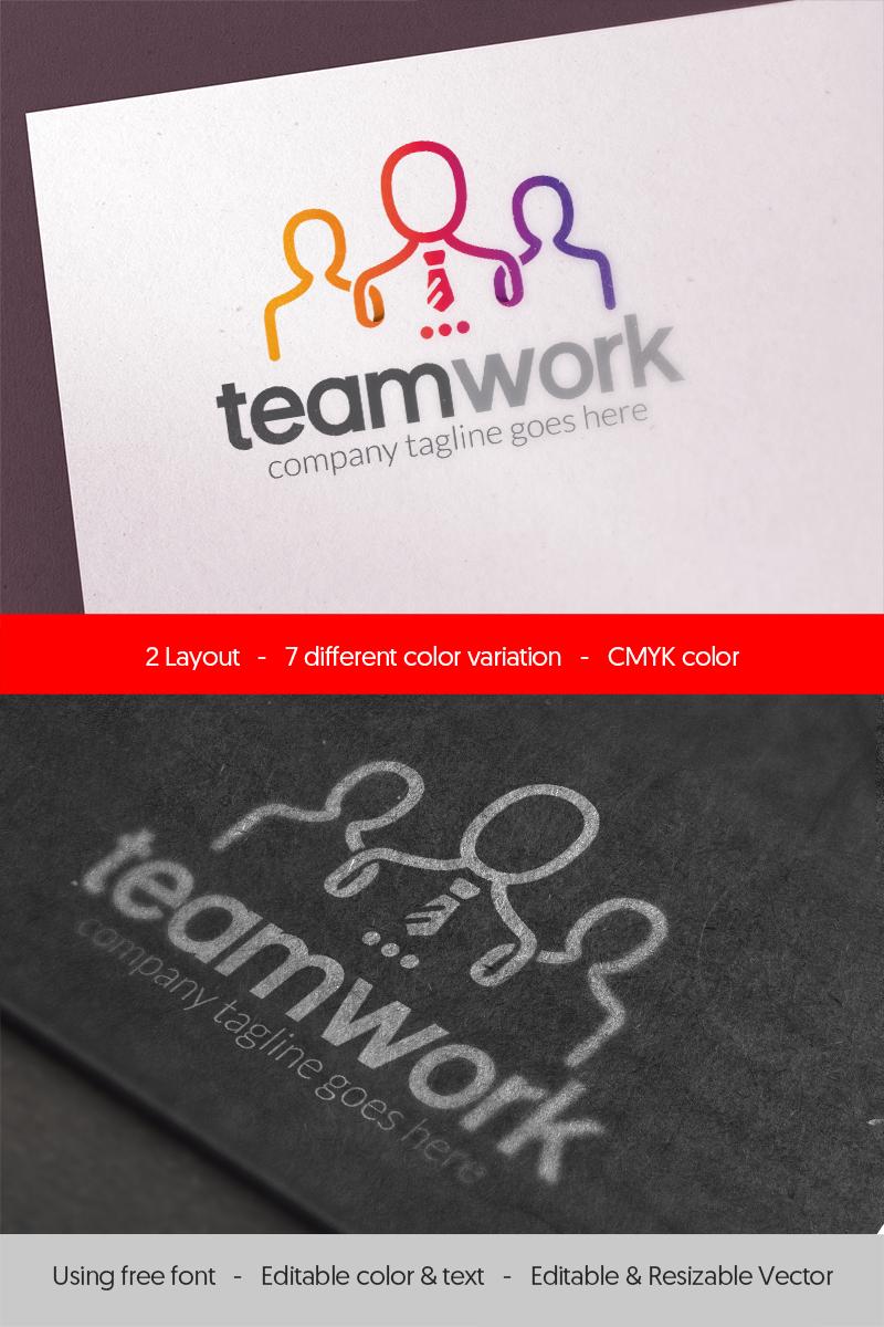 Szablon Logo People Teamwork - #67211